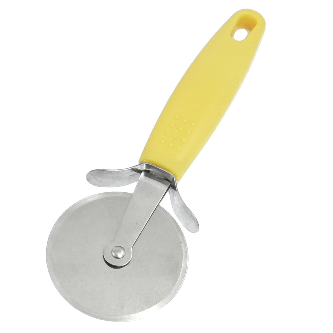 "Yellow Handle Stainless Steel 2.5"" Dia Round Wheel Pizza Cutter"