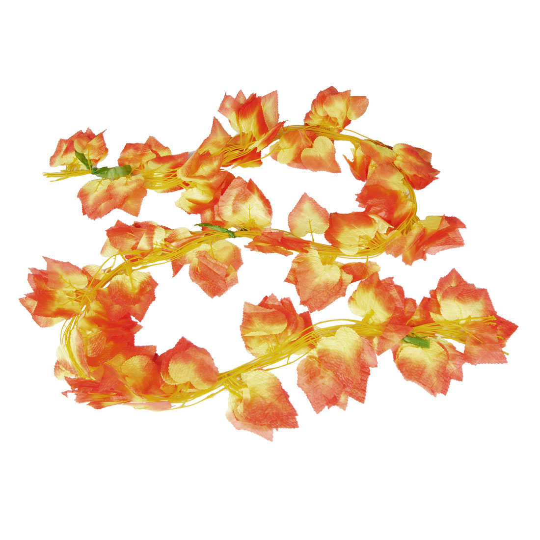 Home Decor Yellow Red Artificial Maple Leaves Hanging Vine 12 Pcs