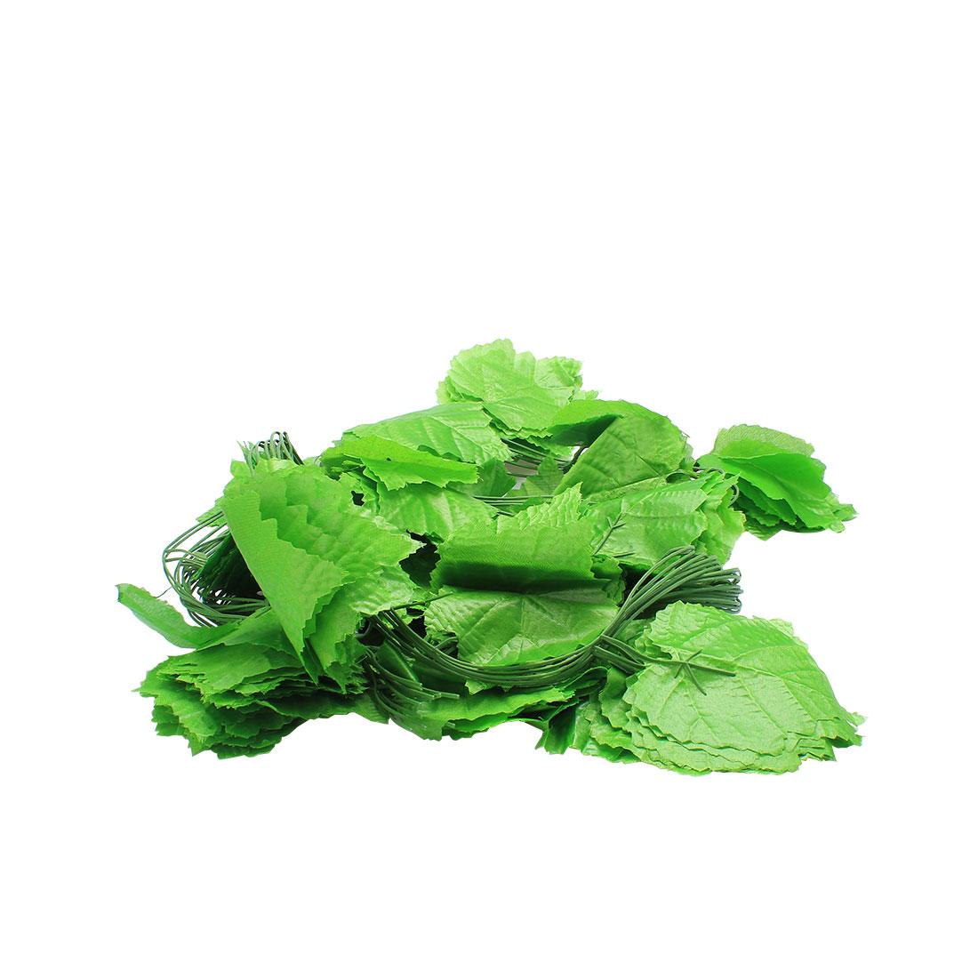Home Decor Green Artificial Grape Leaves Hanging Vine 7.9Ft 12 Pcs