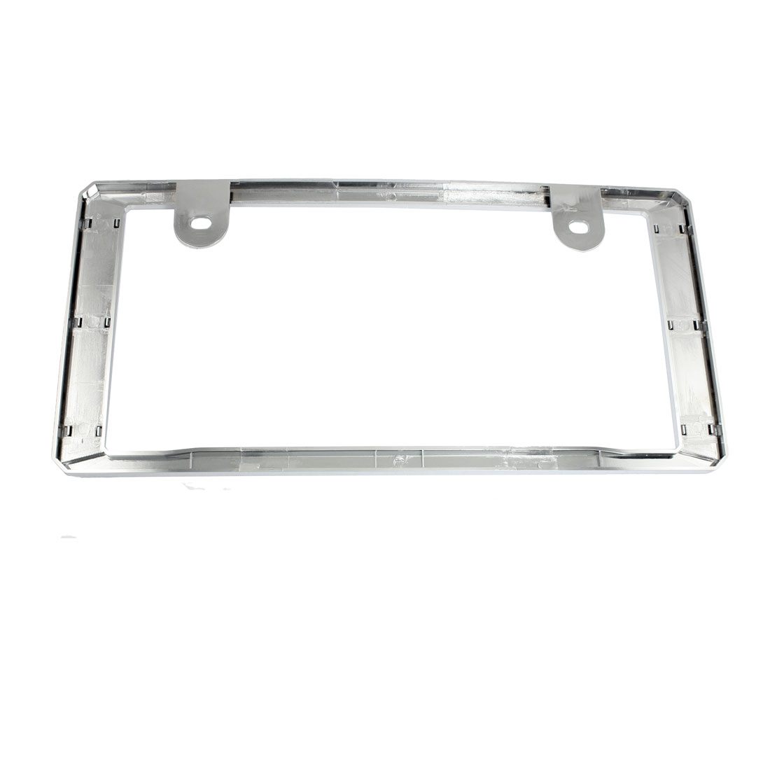 Chrome Plastic License Plate Frame Plate Holder Silver Tone for Car