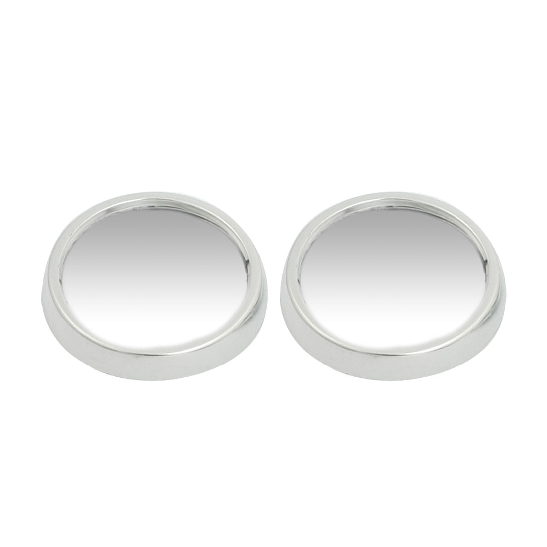 2 Pcs Car Side Rearview Convex Rear View Spot Blind Mirror Silver Tone 47mm