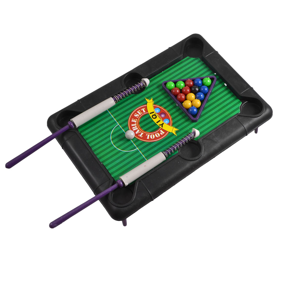 Stretchy Handle Black Board Snooker Billiards Pool Table Set for Kids