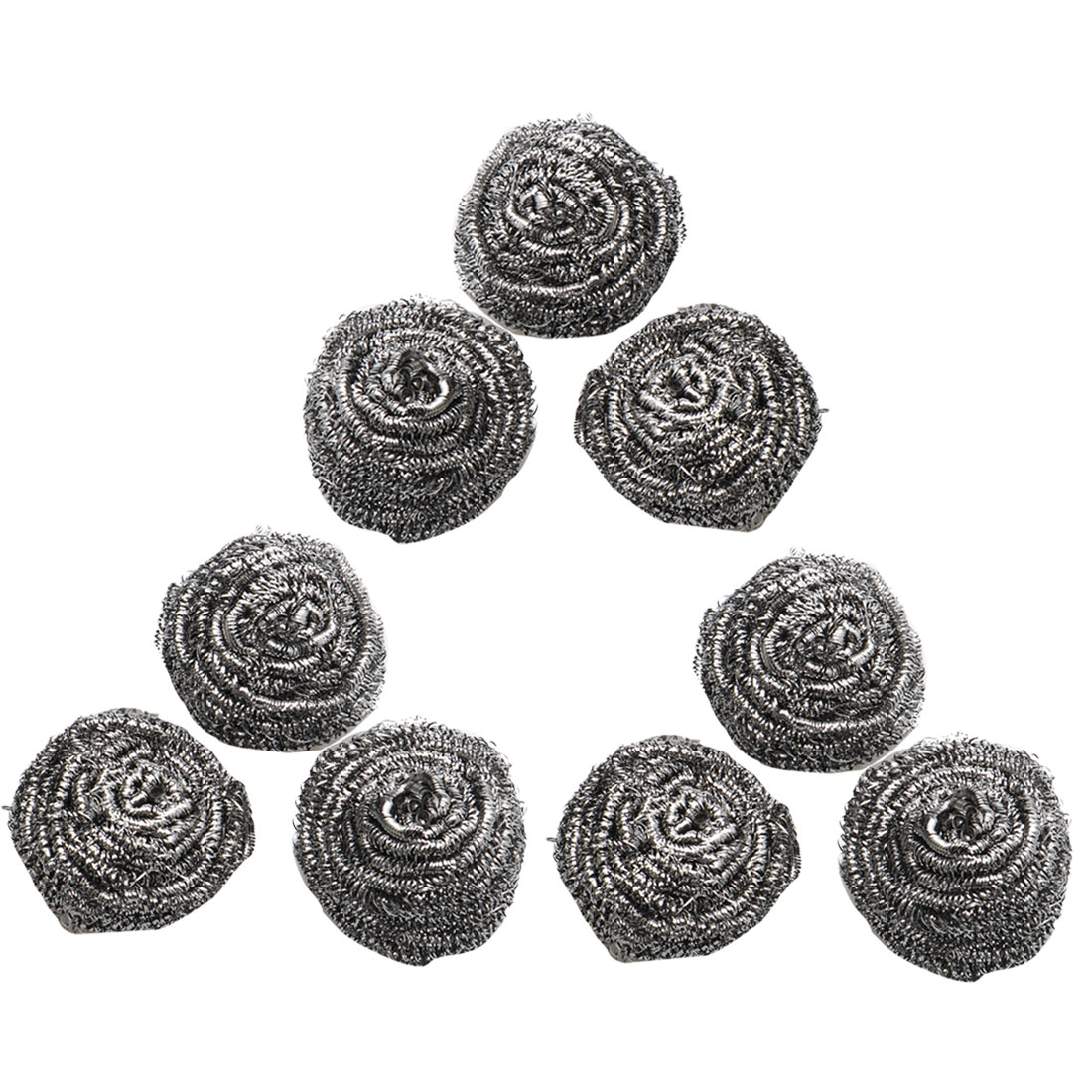 9 Pcs Silver Tone Stainless Steel Wire Kitchen Dishes Pots Pans Scrubber Scourer