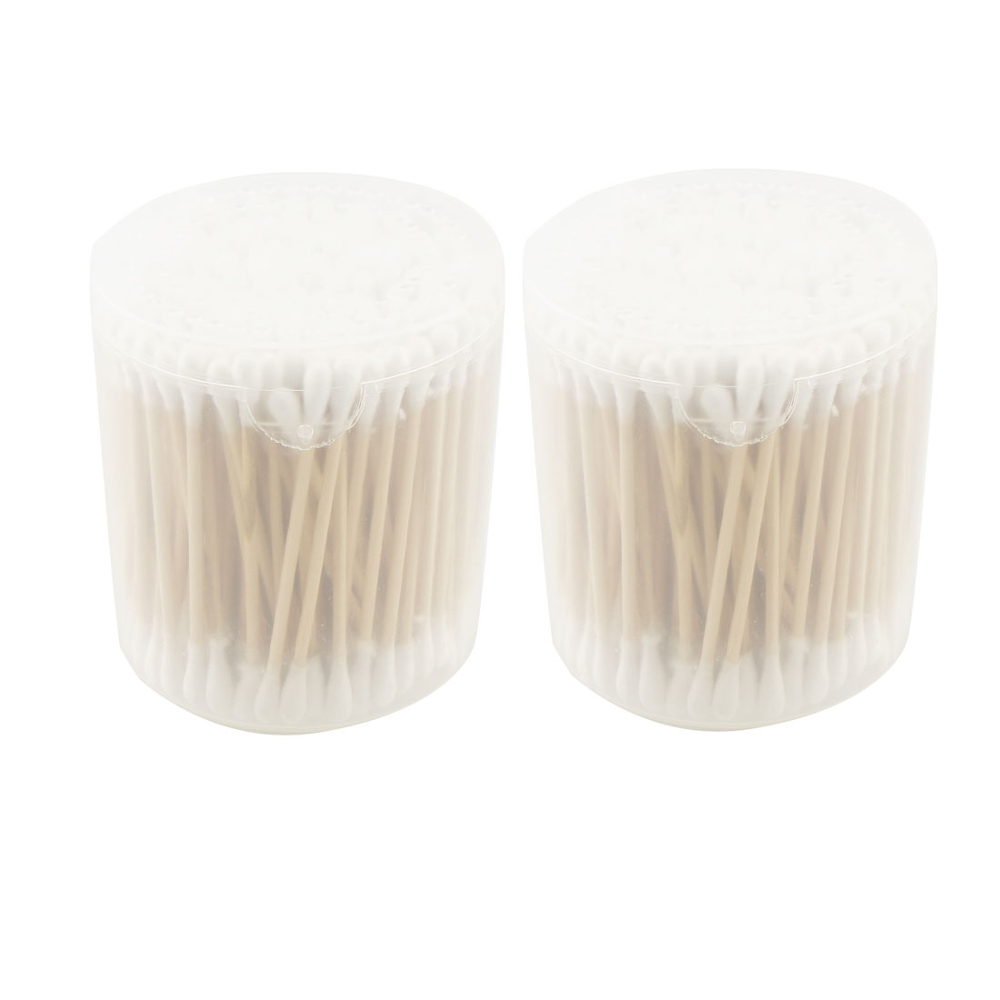360 Pcs Wood Rod White Double Ended Cotton Buds w Round Box