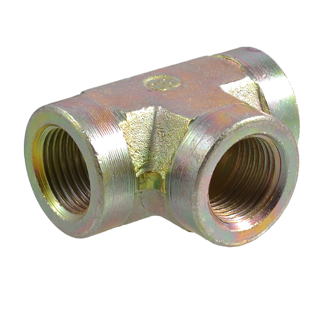 "1/2"" NPT Female Thread 3 Way Air Pipe T Style Connector Fitting"