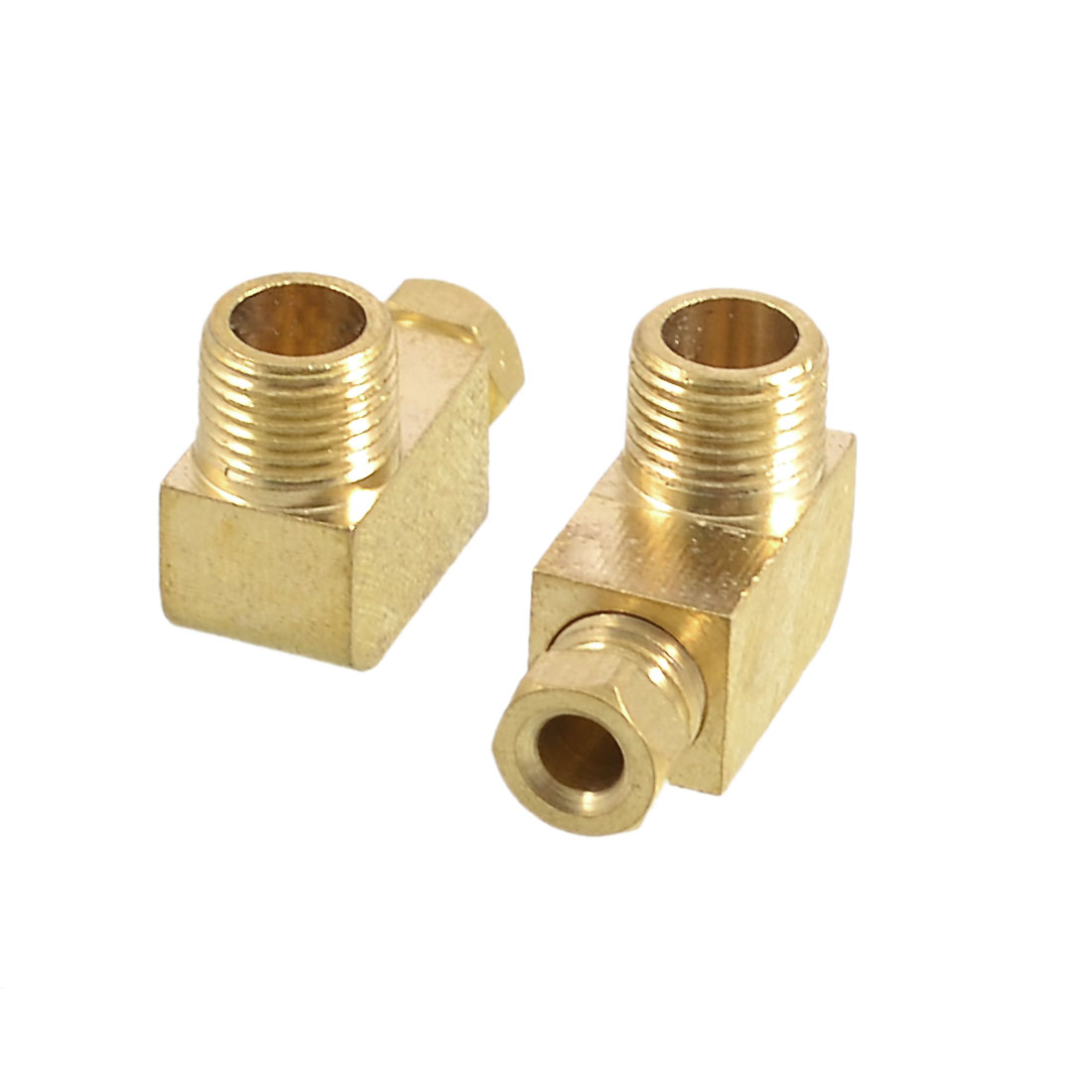"2 x Air Pneumatic 1/8"" PT Thread 90 Degree Couplers Adapter for 4mm Tube"