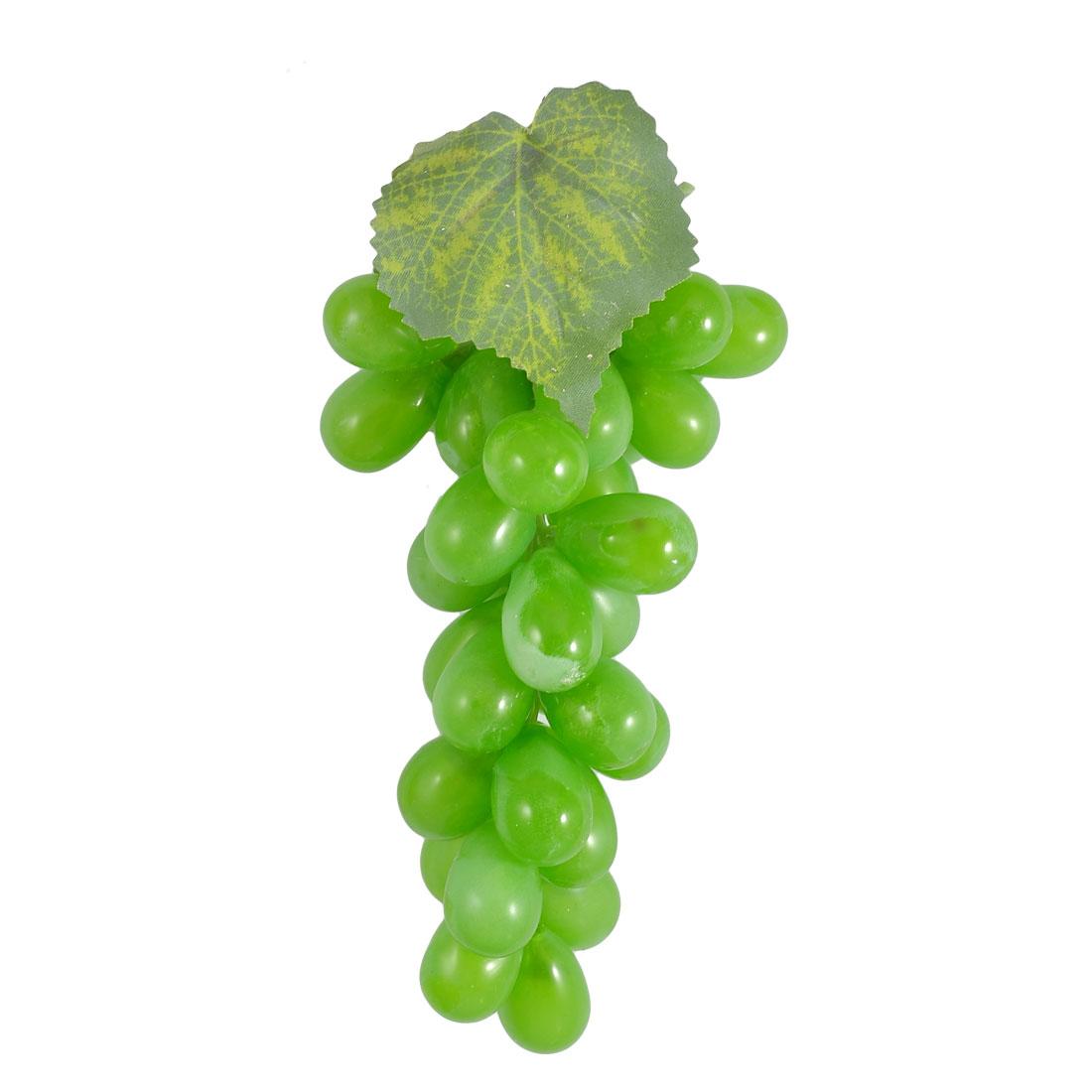 Emulational Green Soft Plastic Grape Fruit Shape Home Desk Ornament