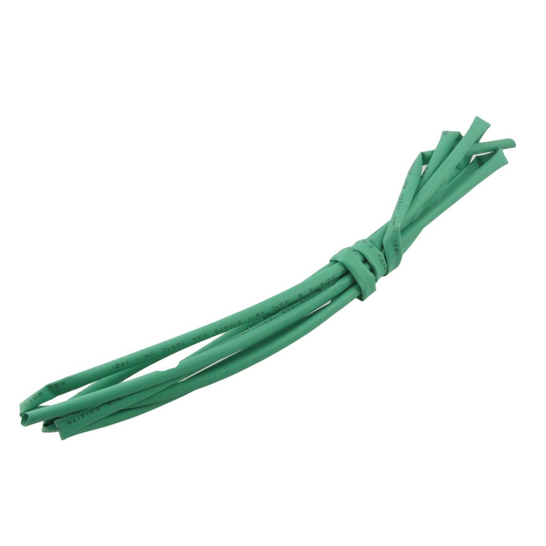2M Long 4.0mm Dia Ratio 2:1 Heat Shrinking Shrinkable Tube Tubing Green