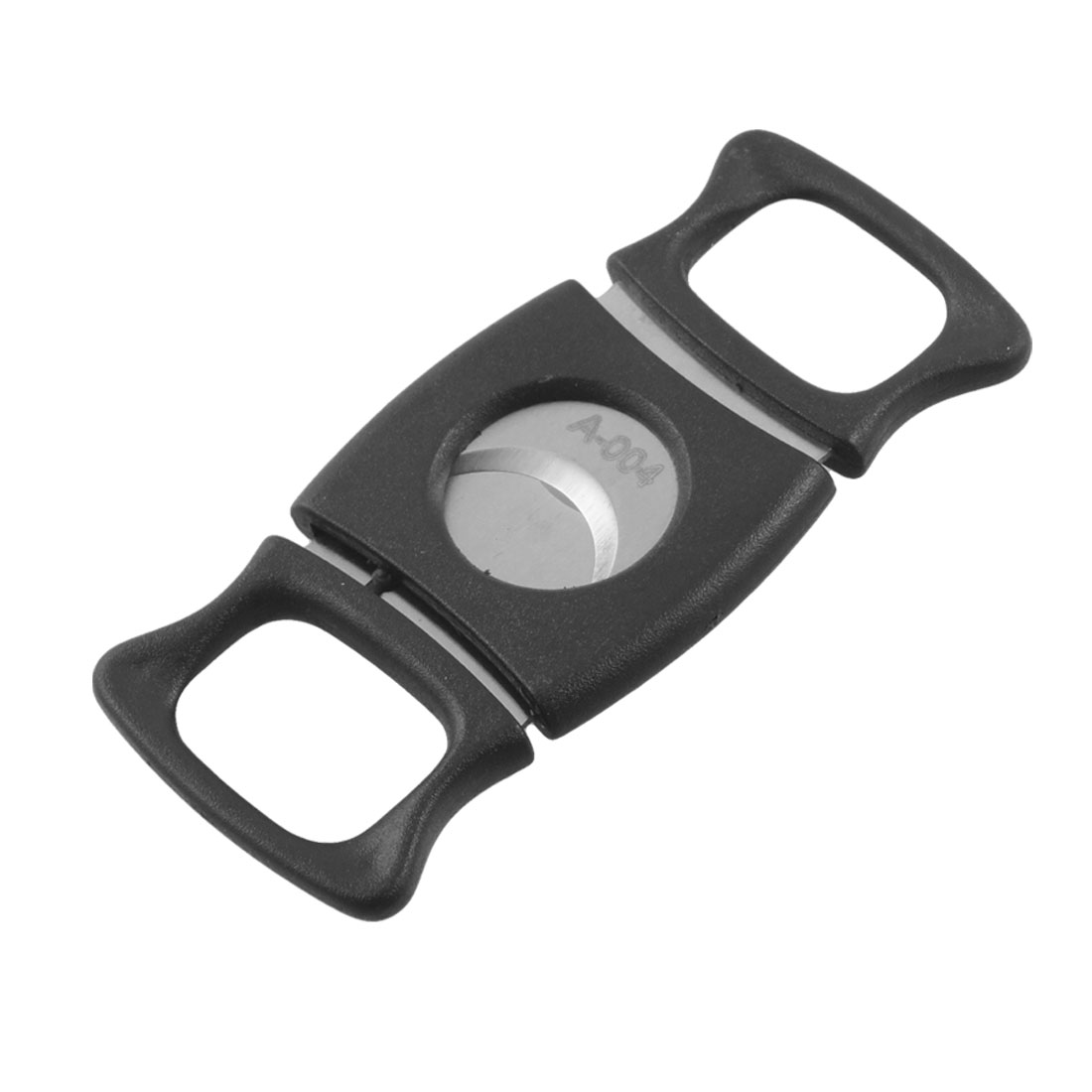 Black Plastic Handle Stainless Steel Cigar Scissors Cutter