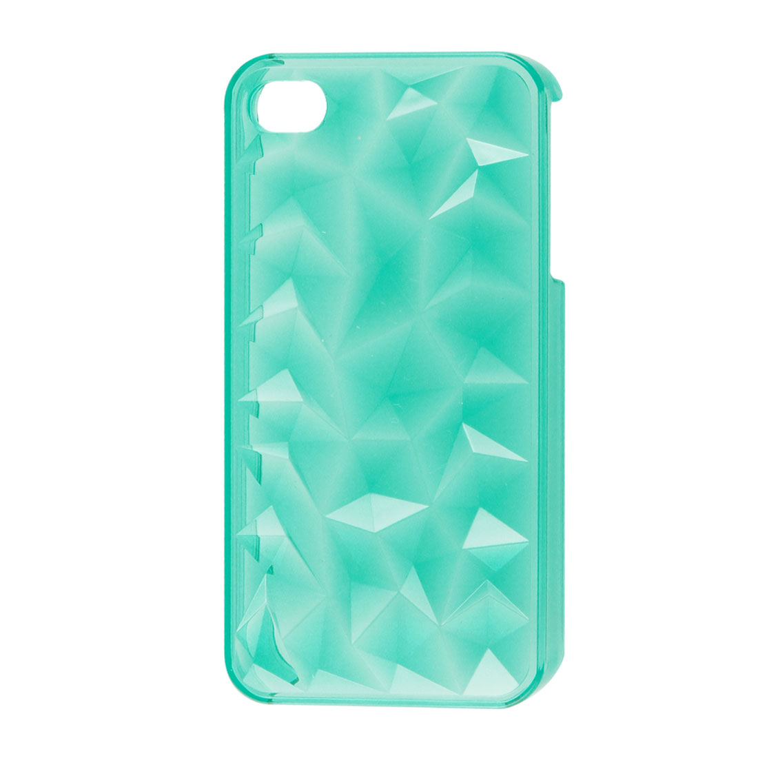 Clear Turquoise Color Hard Plastic Protector Back Cover for iPhone 4 4S 4GS