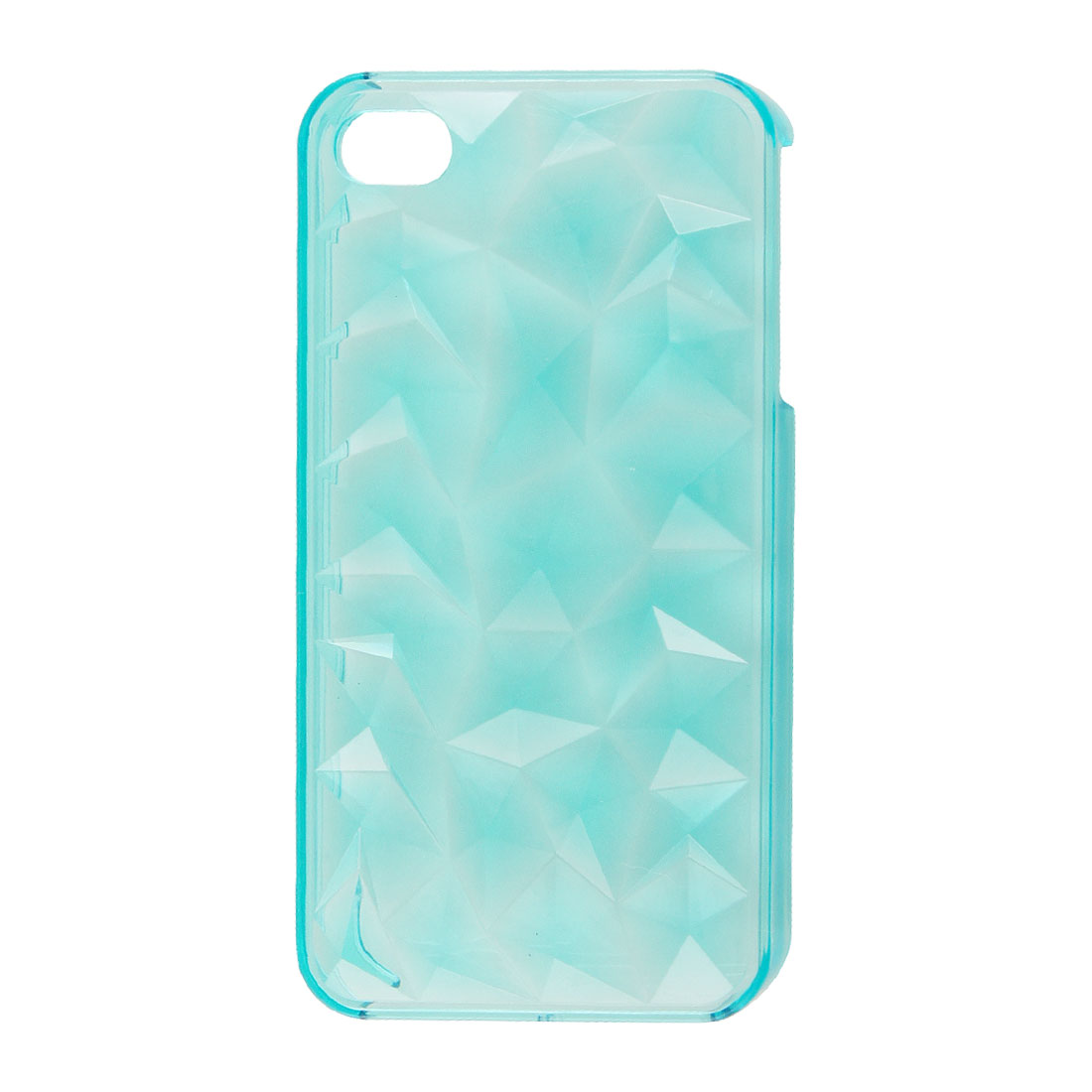 3D Water Cube Surface Clear Sky Blue Plastic Back Guard Shell for iPhone 4 4GS