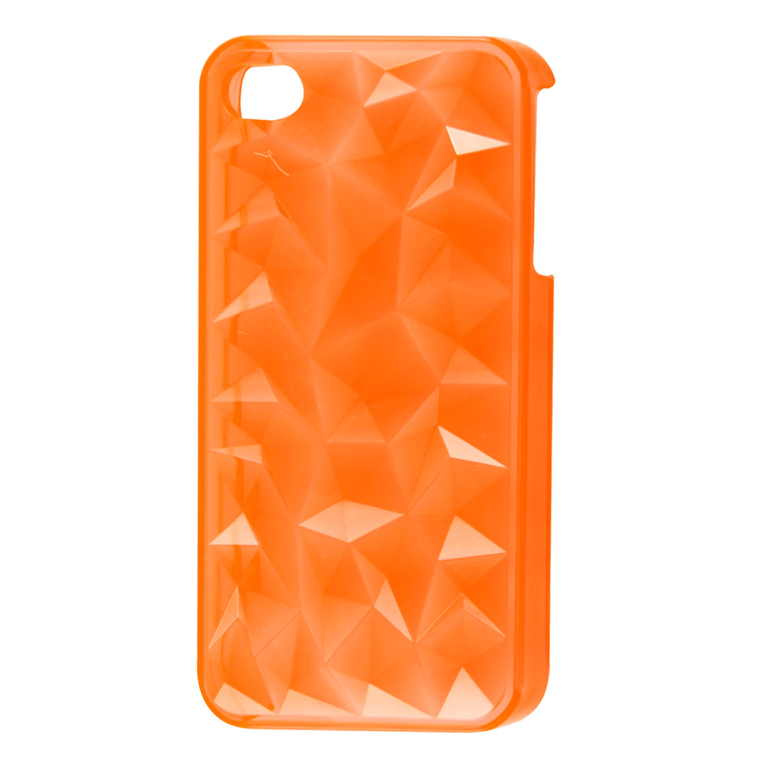 Water Cube Surface Clear Orange Plastic Back Case Shell for iPhone 4 4S 4GS