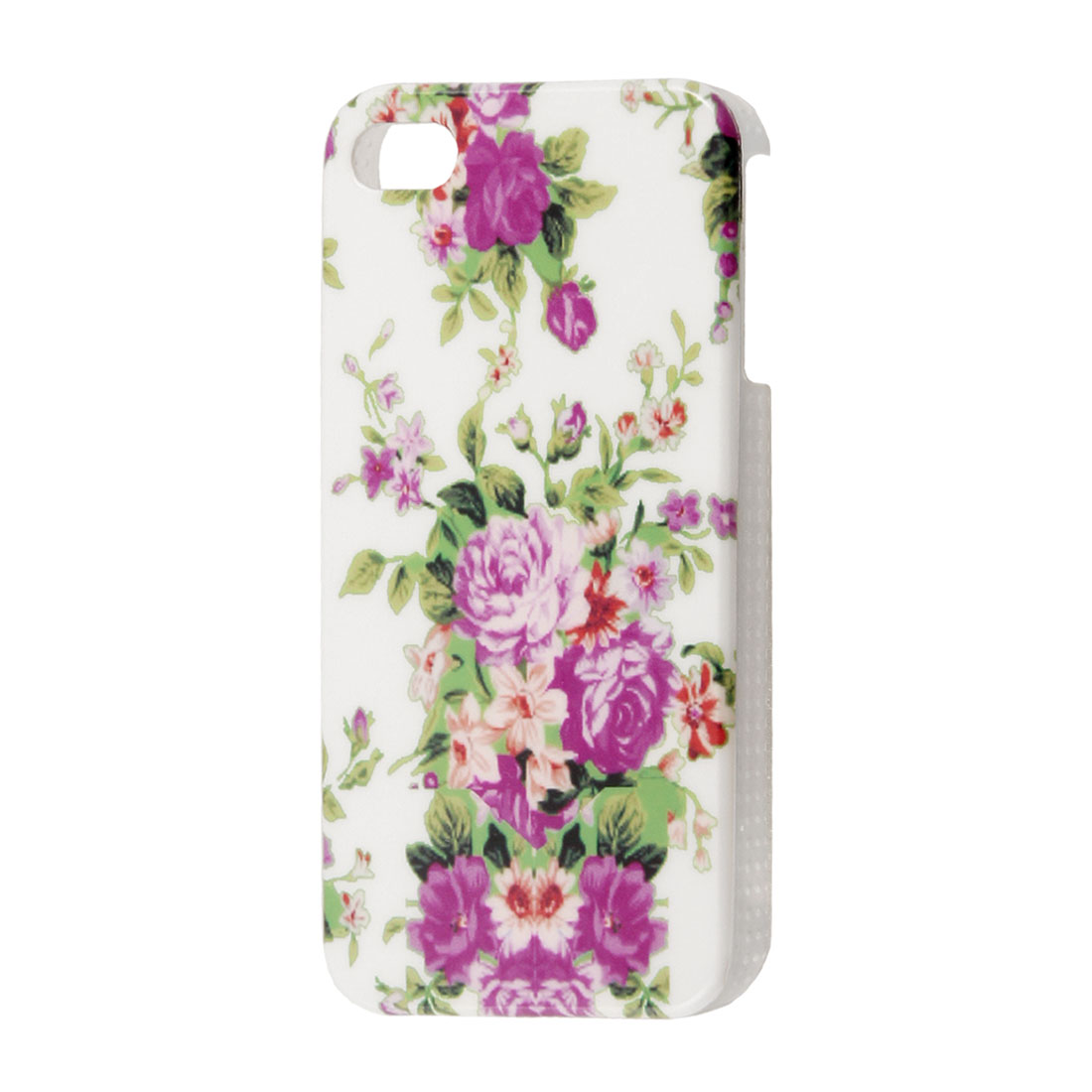 Flowers Leaves Background White IMD Plastic Back Cover for iPhone 4 4S 4GS