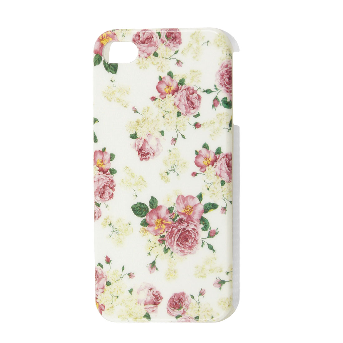 Peony Flowers Decor White IMD Plastic Back Shell for iPhone 4 4GS