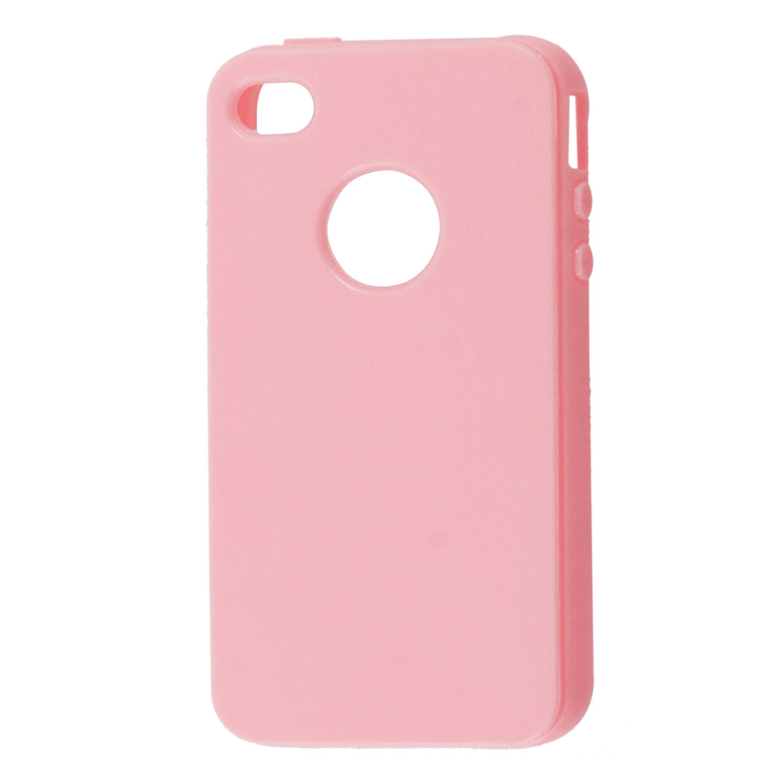Pink TPU Soft Plastic Protective Cover Shell for iPhone 4 4GS