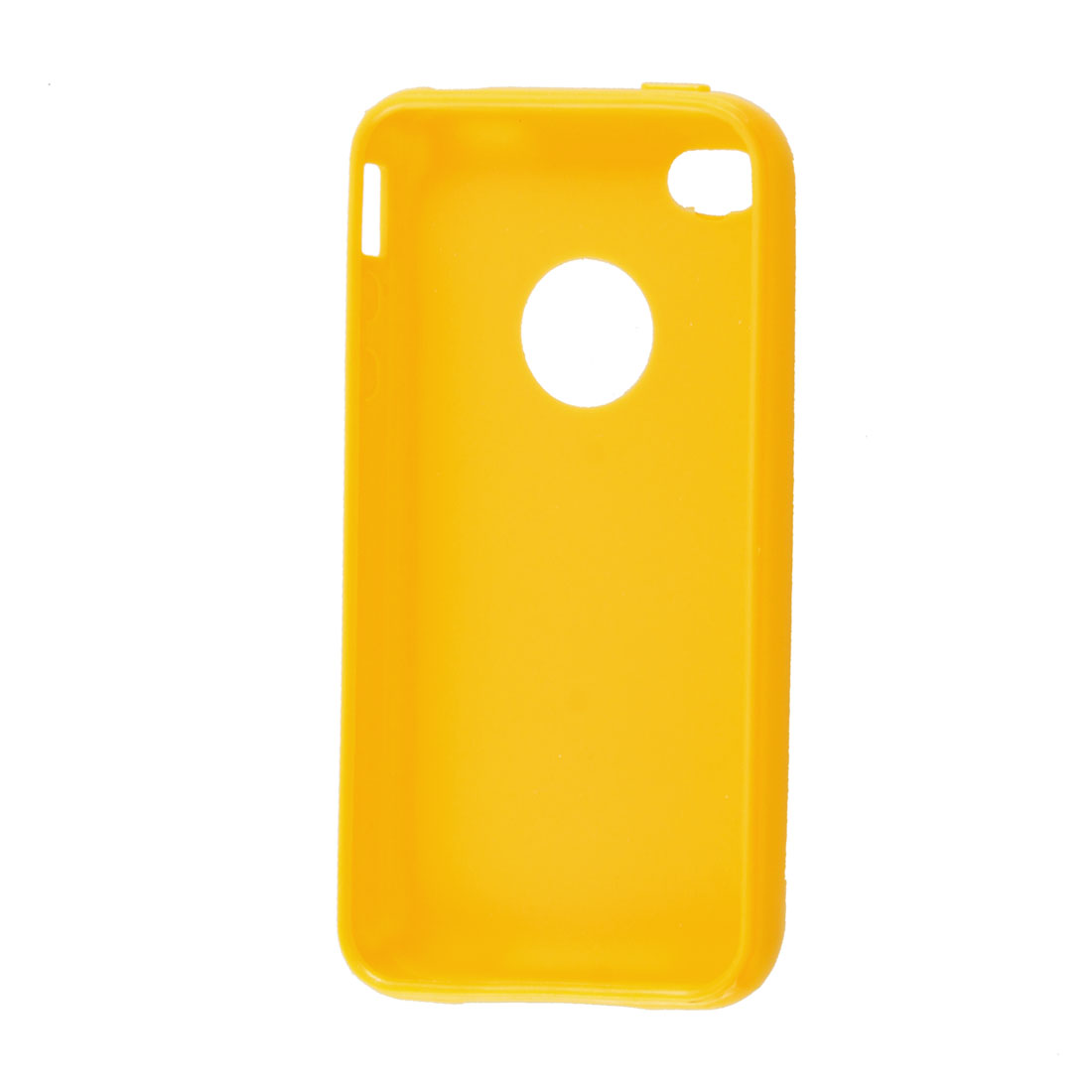 Protective Yellow Soft Plastic Case Cover TPU for iPhone 4 4G