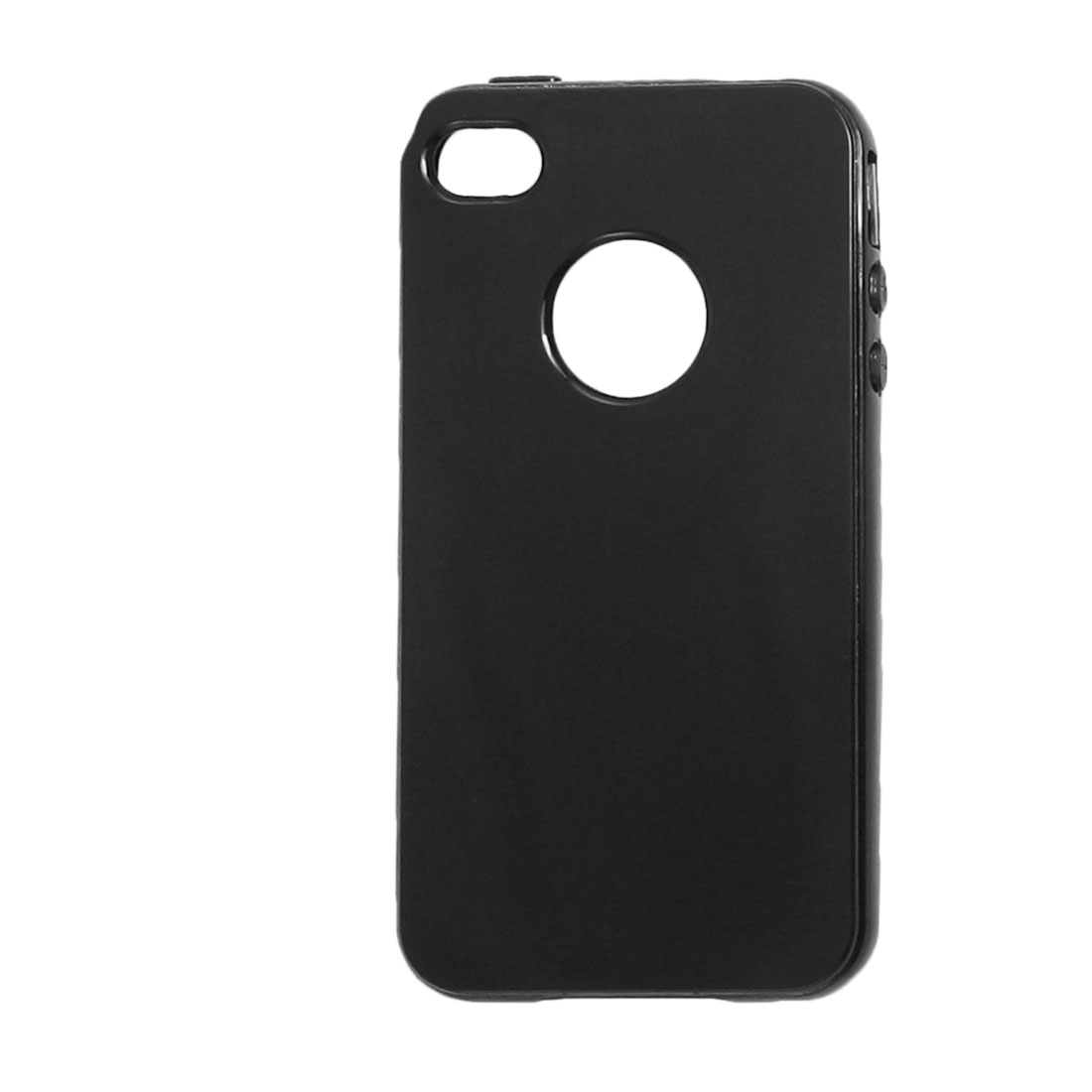 TPU Soft Plastic Black Case Cover Shell for iPhone 4 4GS