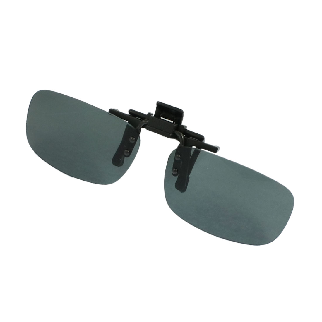 Ladies Men Women Dark Green Plastic Sunglasses Lens Clip on Glasses