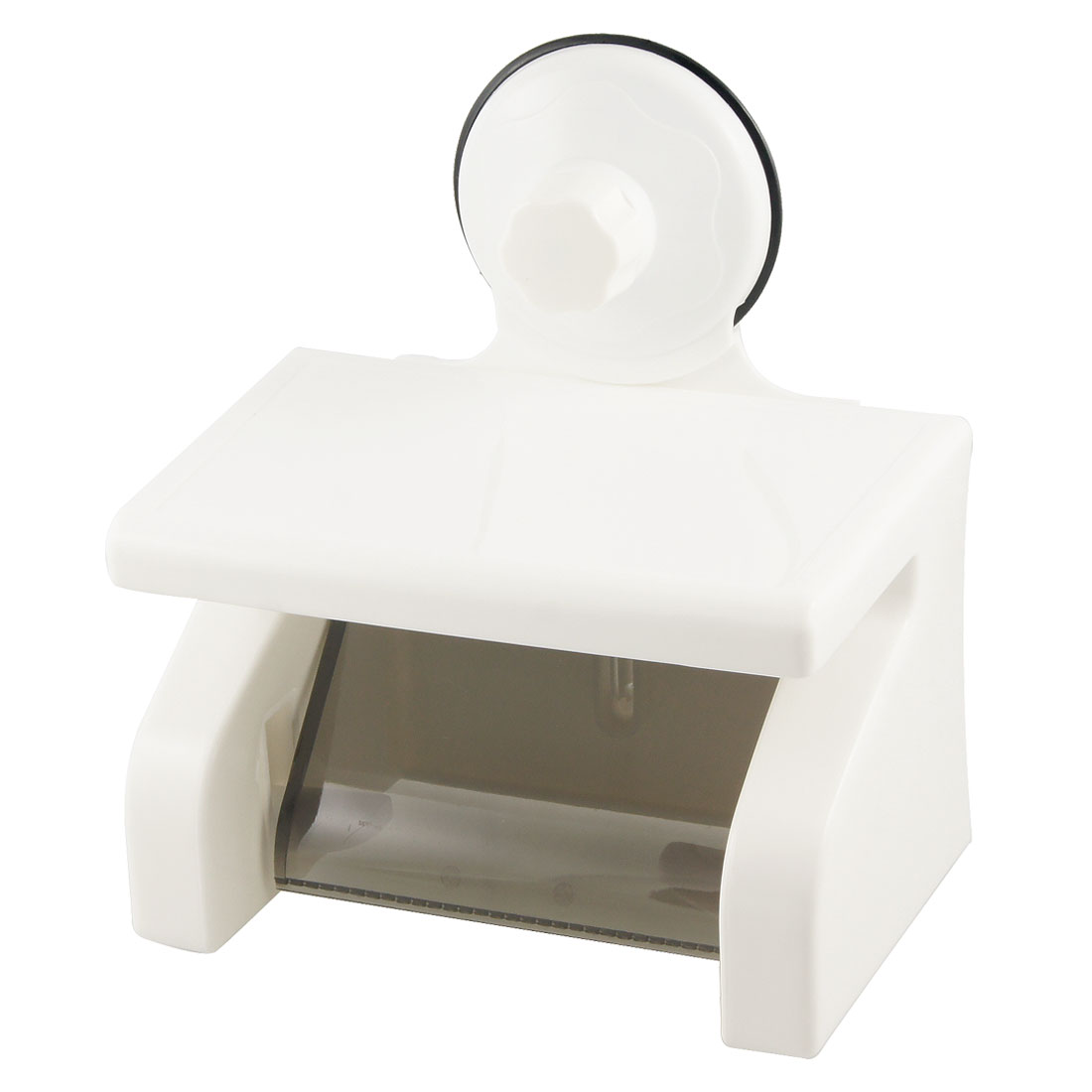 Suction Cup 0ff White Plastic Toilet Paper Tissue Holder Bracket
