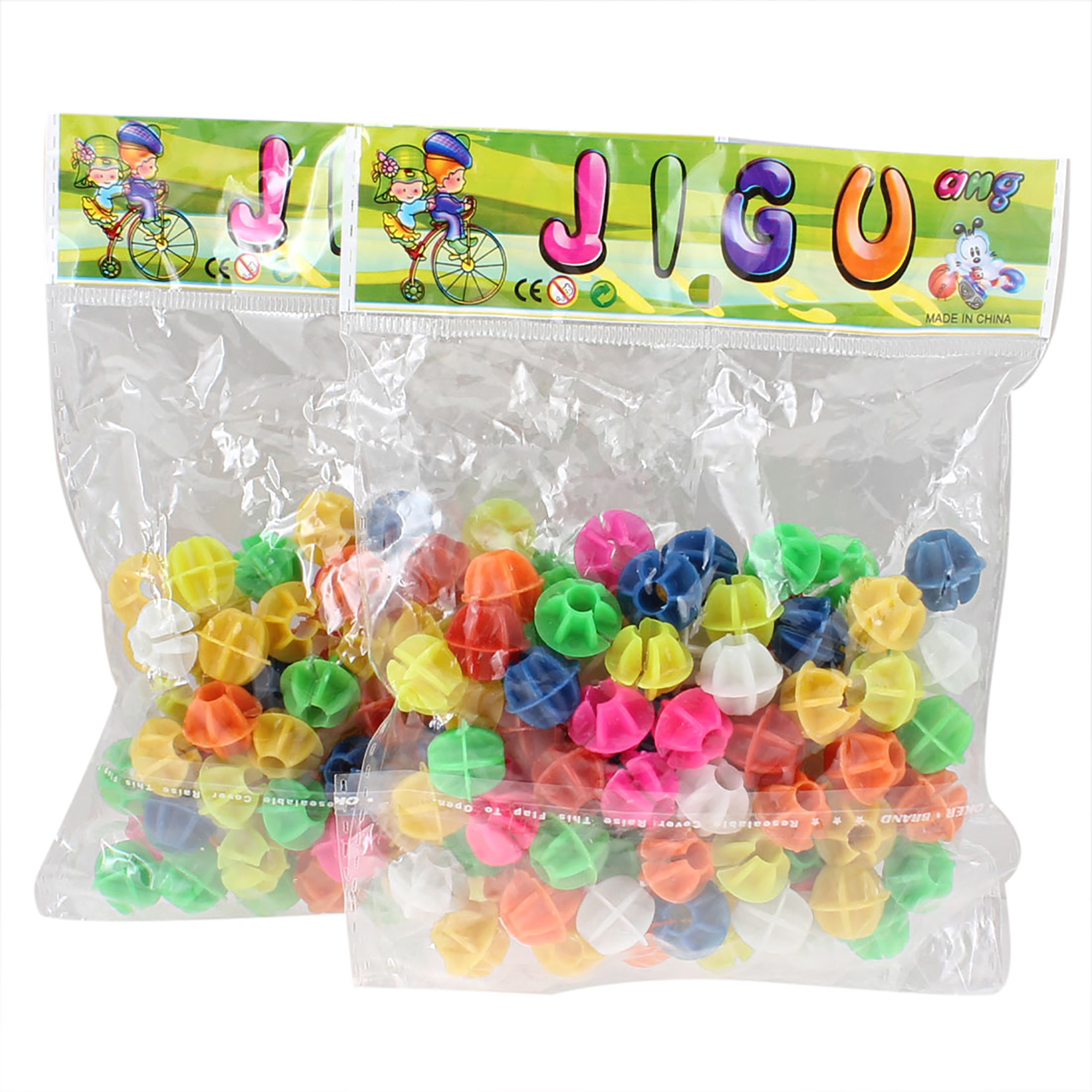 100 Pcs Colorful Plastic Clip Spoke Bead Bicycle Decor for Bike
