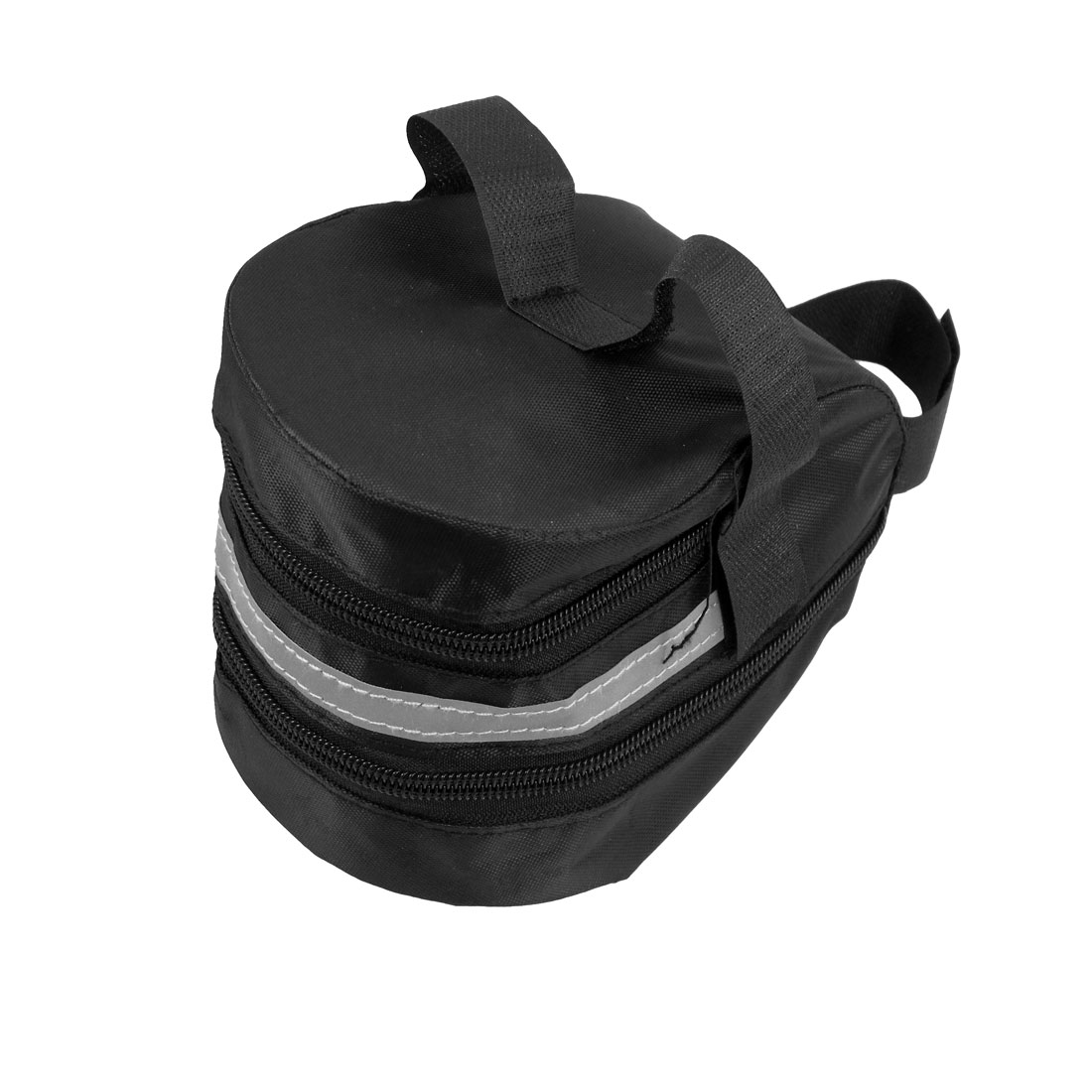 Black Hook and Loop Fastener Mountain Bicycle Expandable Saddle Seat Bag