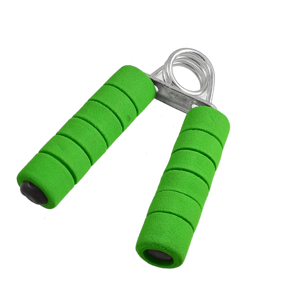 Slotted Green Foam Coated Metal Handle Spring Action Hand Gripper