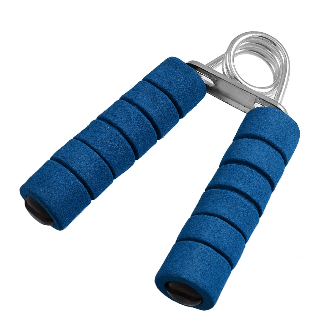 Blue Foam Coated Metal Handgrip Spring Action Muscle Developer Hand Gripper