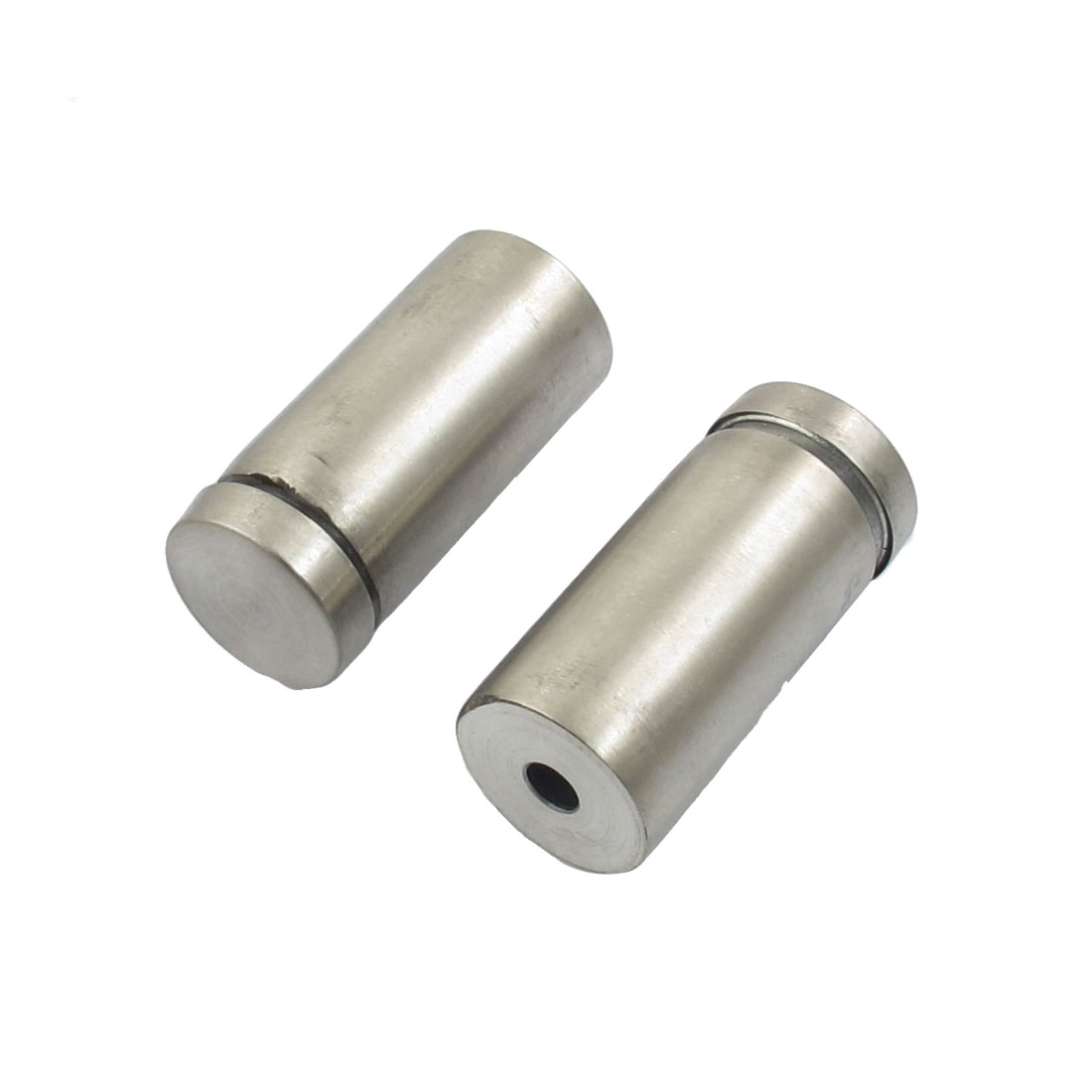 2 Pcs 4.8mm Hole Diameter Cylinder Shaped Stainless Steel Screw Nut
