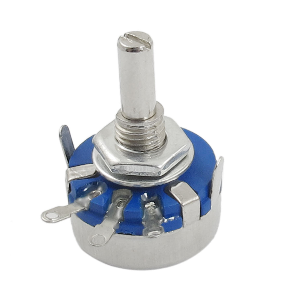WH5-1A 4mm Shaft 220K Ohm Carbon Composition Rotary Taper Potentiometer