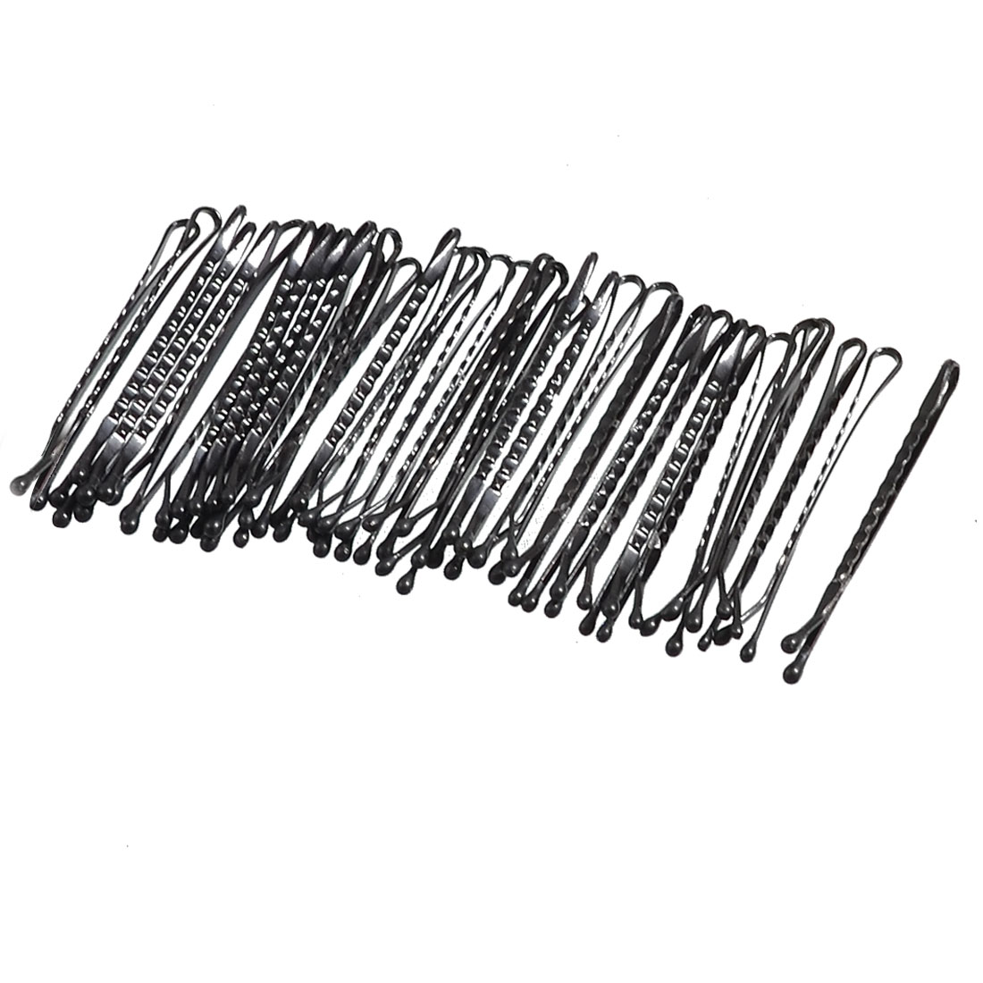Lady Hair Barrette Bar Clips DIY Hairstyle Bobby Pin Black 37 Pcs