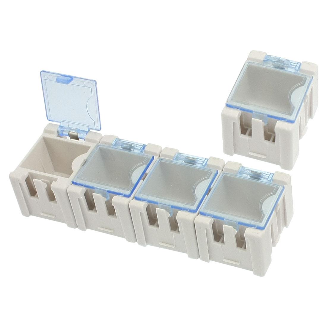 Plastic Components Electronics Storage Box Case White