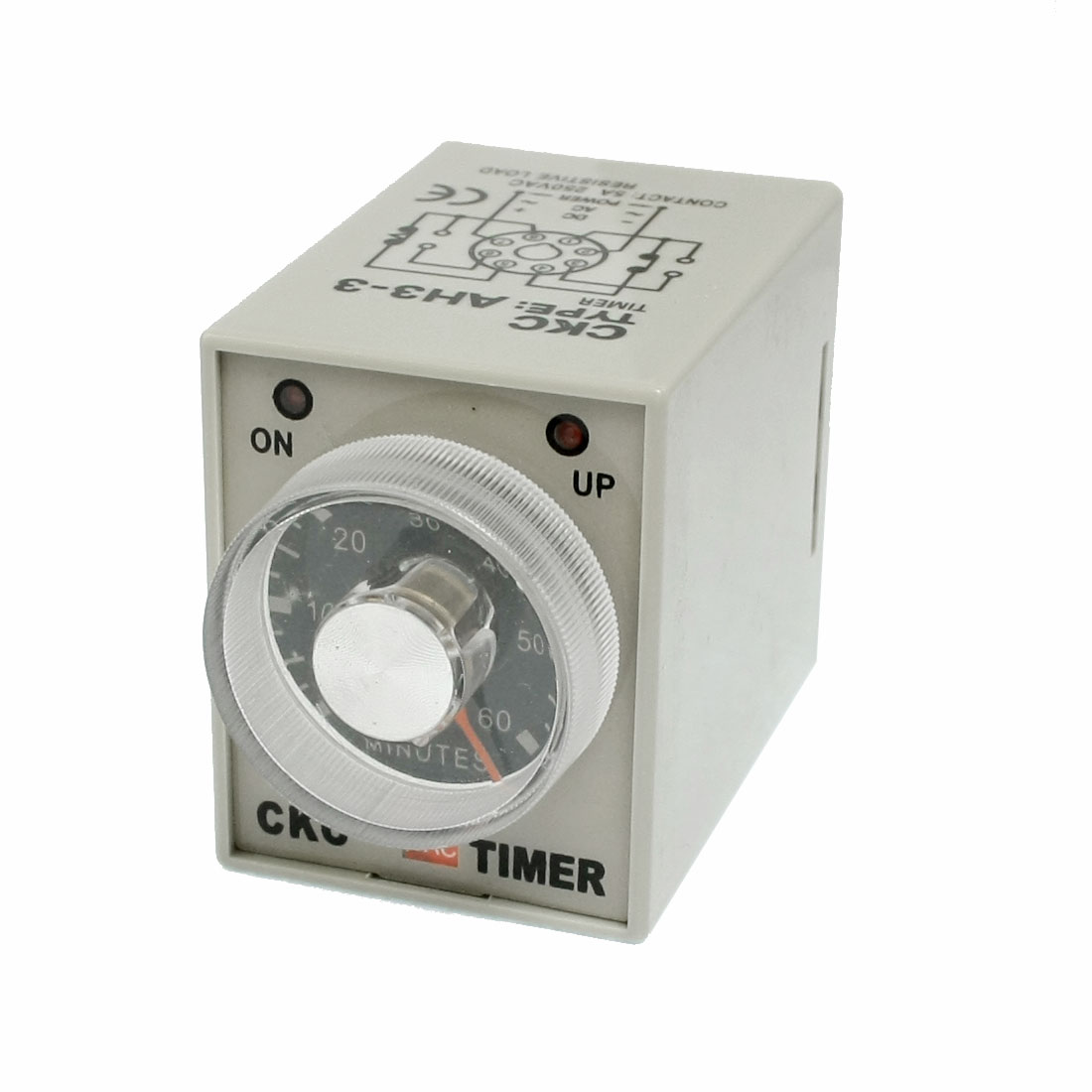 AH3-3 Power On AC 220V 0-60 Minutes Delay Time Relay Timer