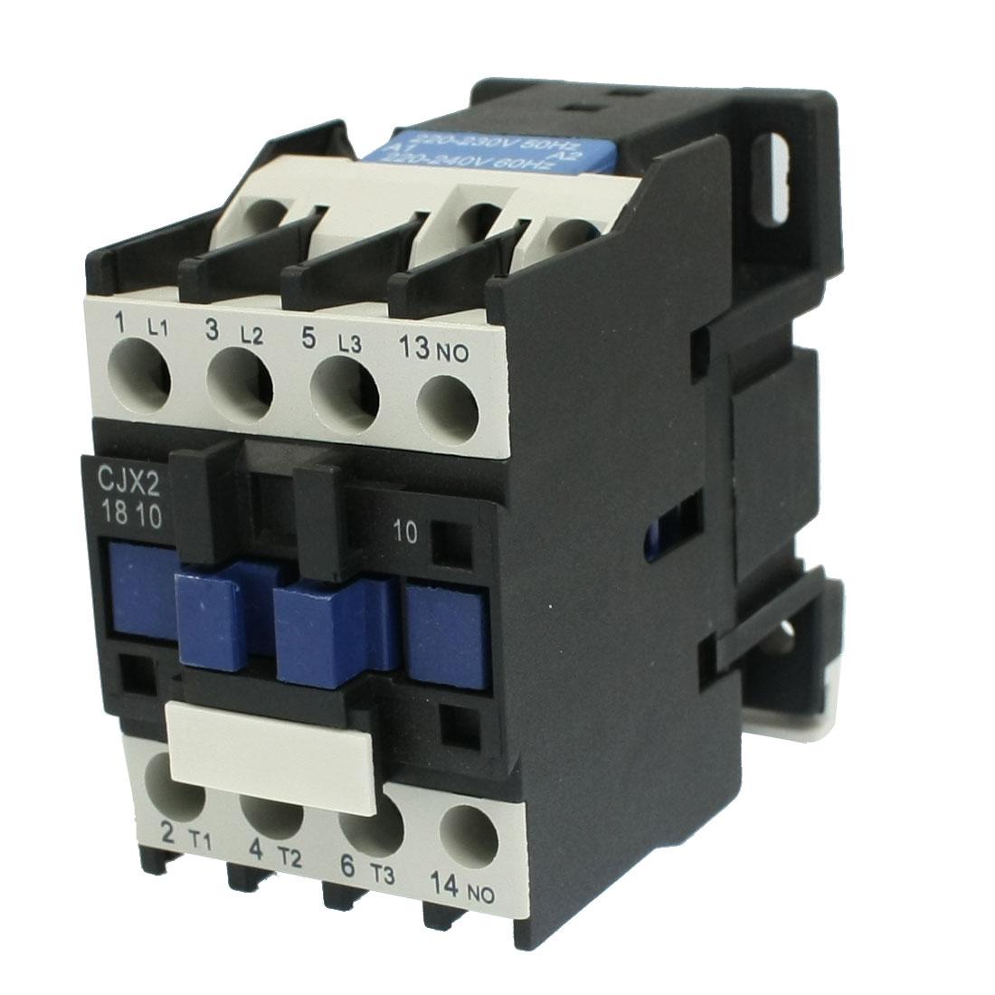 CJX2-1810 AC Contactor 18A 3 Poles One NO 220-230V 50Hz Coil