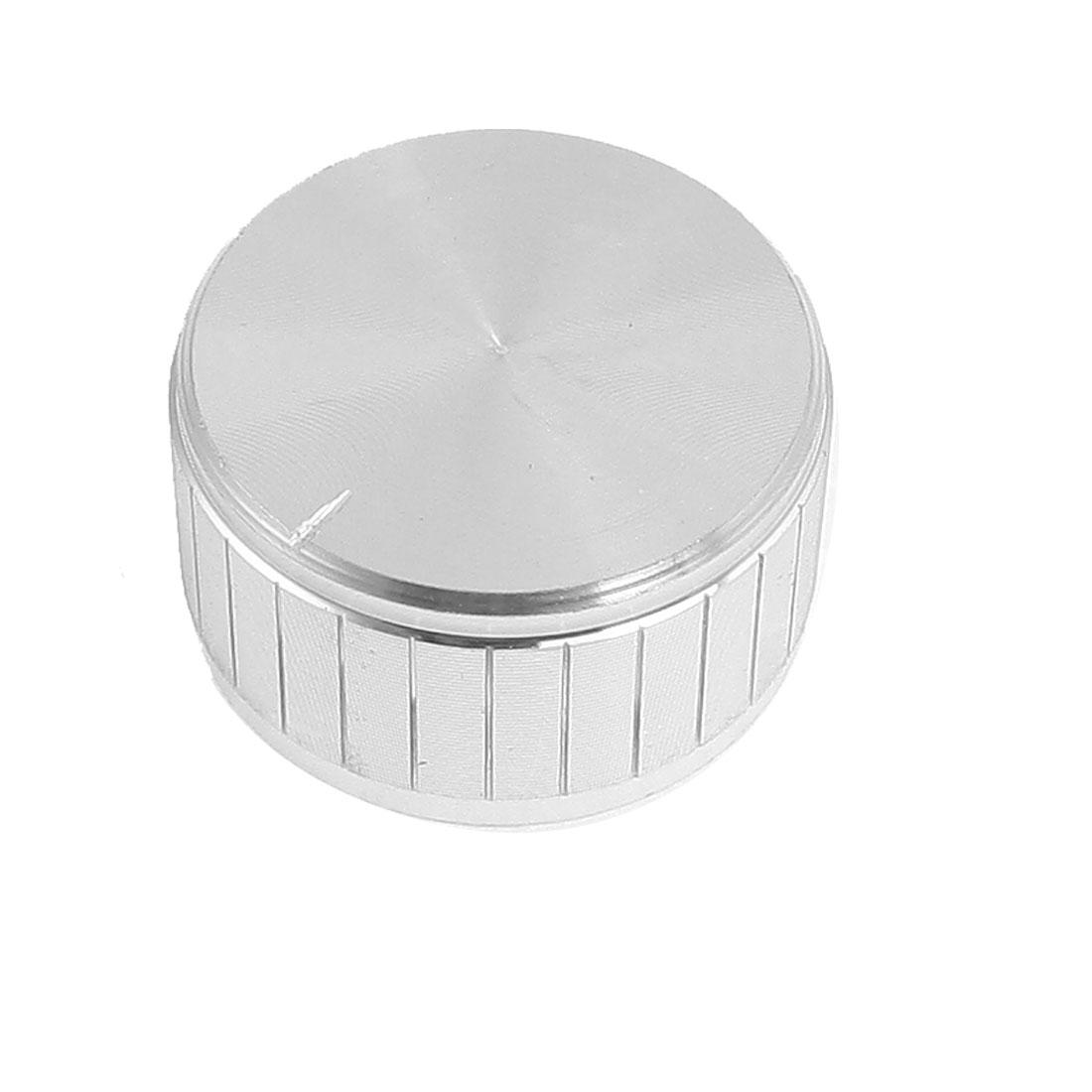 28mm x 15mm Potentiometer Control Volume Rotary Knob Cap Silver Tone