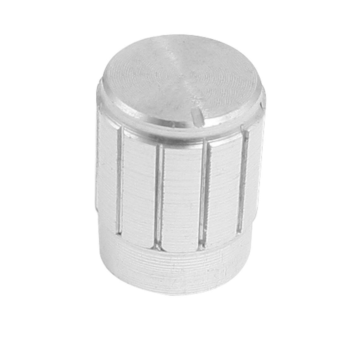 11 x 17mm Potentiometer Control Volume Rotary Knob Cap Silver Tone
