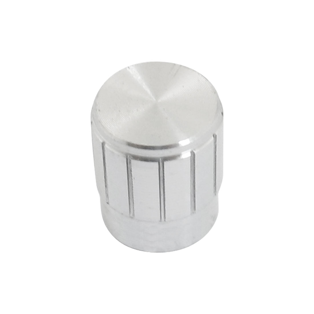 13mm x 17mm Potentiometer Control Volume Rotary Knob Cap Silver Tone