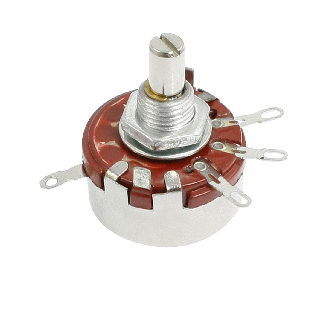 2W 2.2K ohm 6mm Shaft Diameter Single Linear Taper Rotary Potentiometer