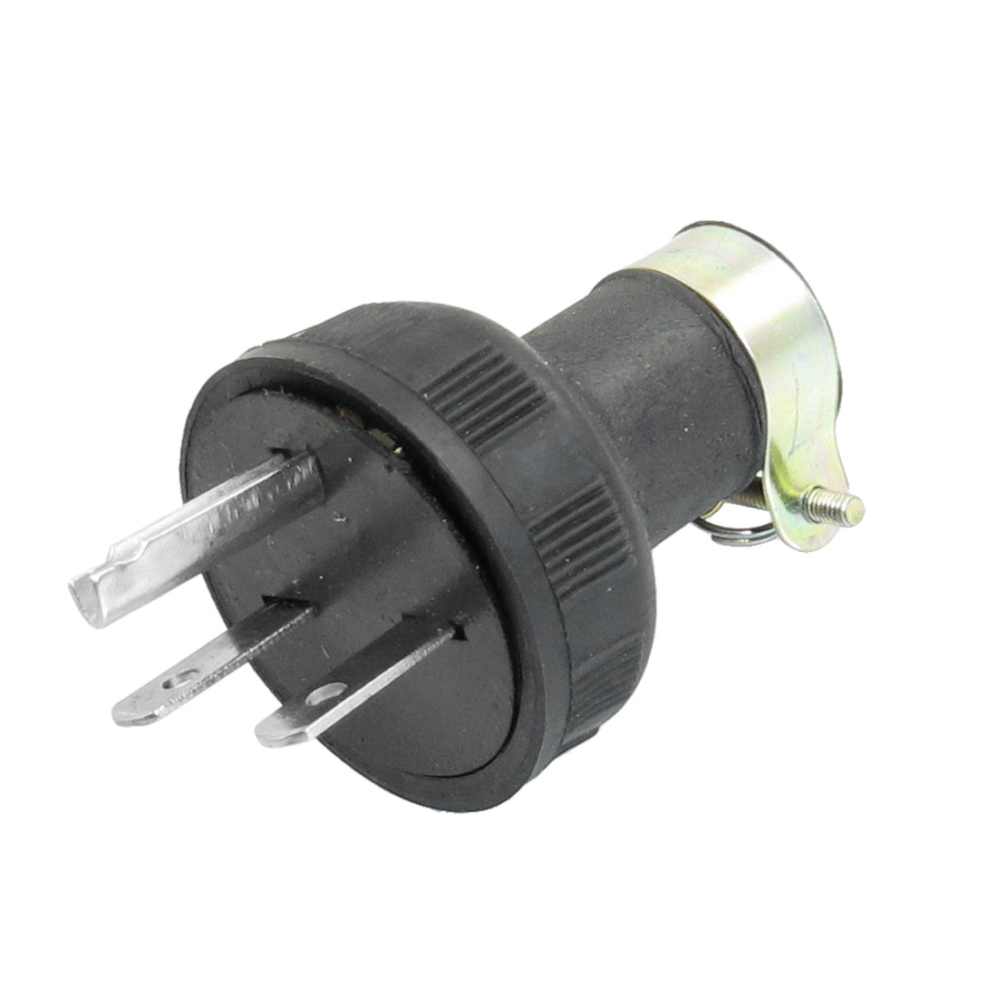 2 Pole 3 Wire Grounding Male Plug Connector AC 250V 15A
