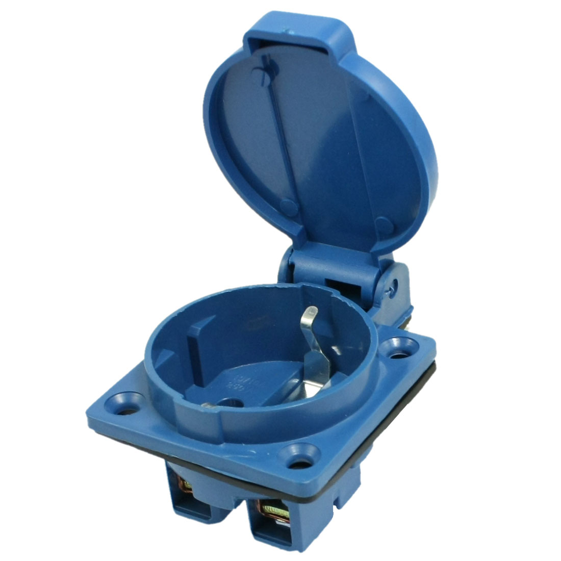 IP44 16A 2P XA-220S Industrial Panel Mount Socket Blue w Washer