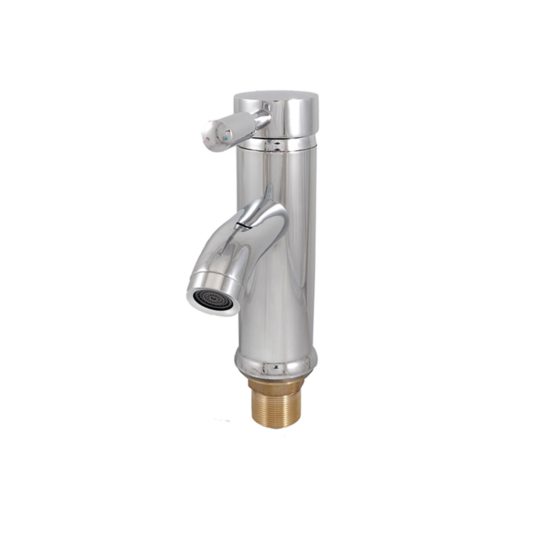 Bathroom 31mm Male Thread Dual Holes Hot Cold Water Filter Faucet Tap w 2 Hoses
