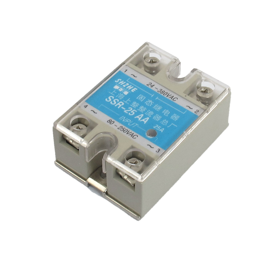 SSR-25AA AC to AC Covered Solid State Module Relay AC 80-250V AC 24-380V