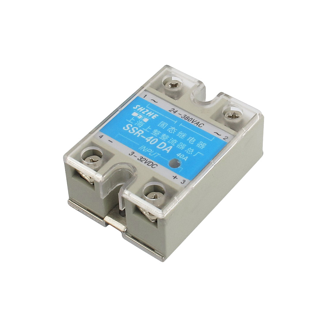 SSR-40DA DC to AC Covered Solid State Module Relay DC 3-32V AC 24-380V