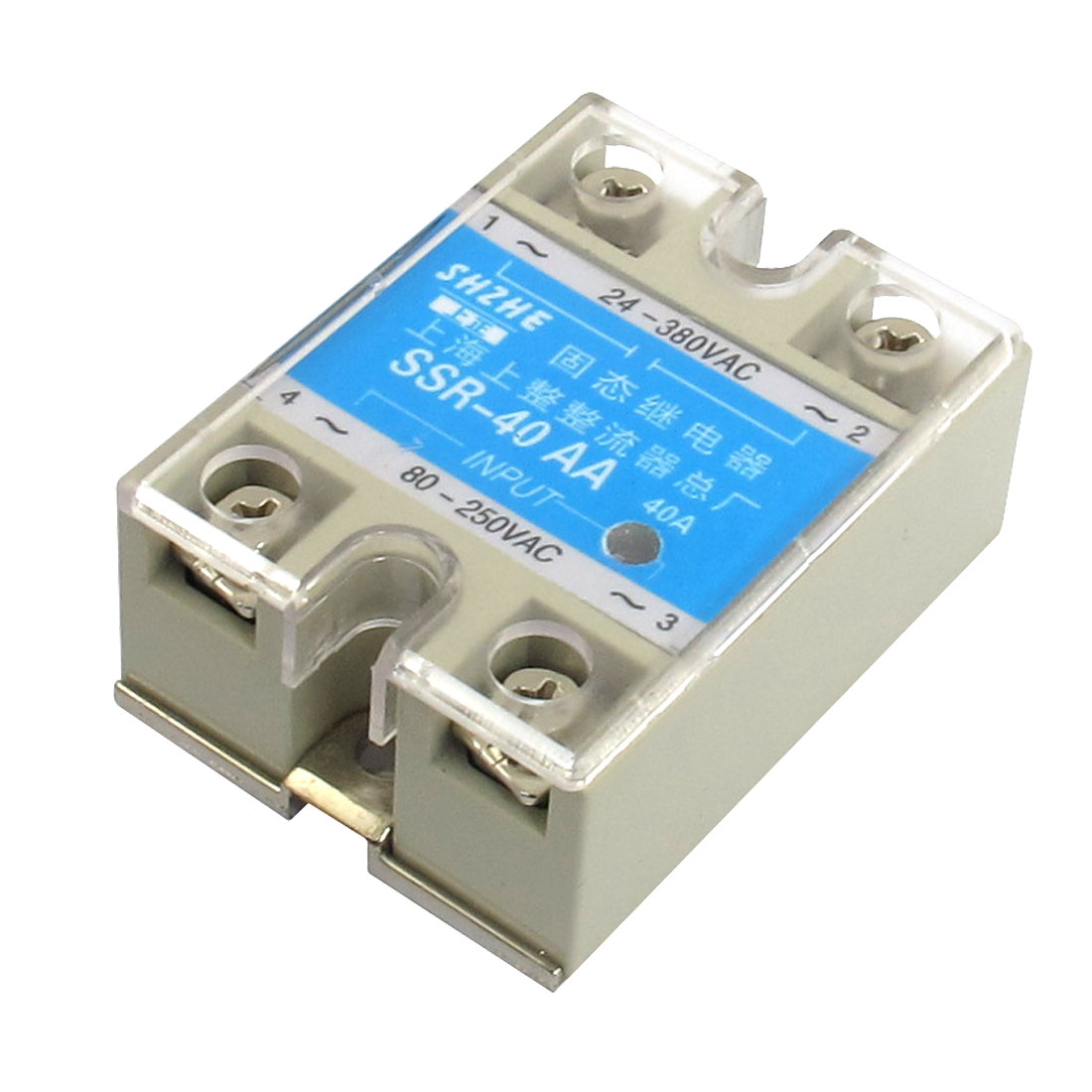 SSR-40AA AC to AC Covered Solid State Module Relay 80-250V AC 24-380V AC