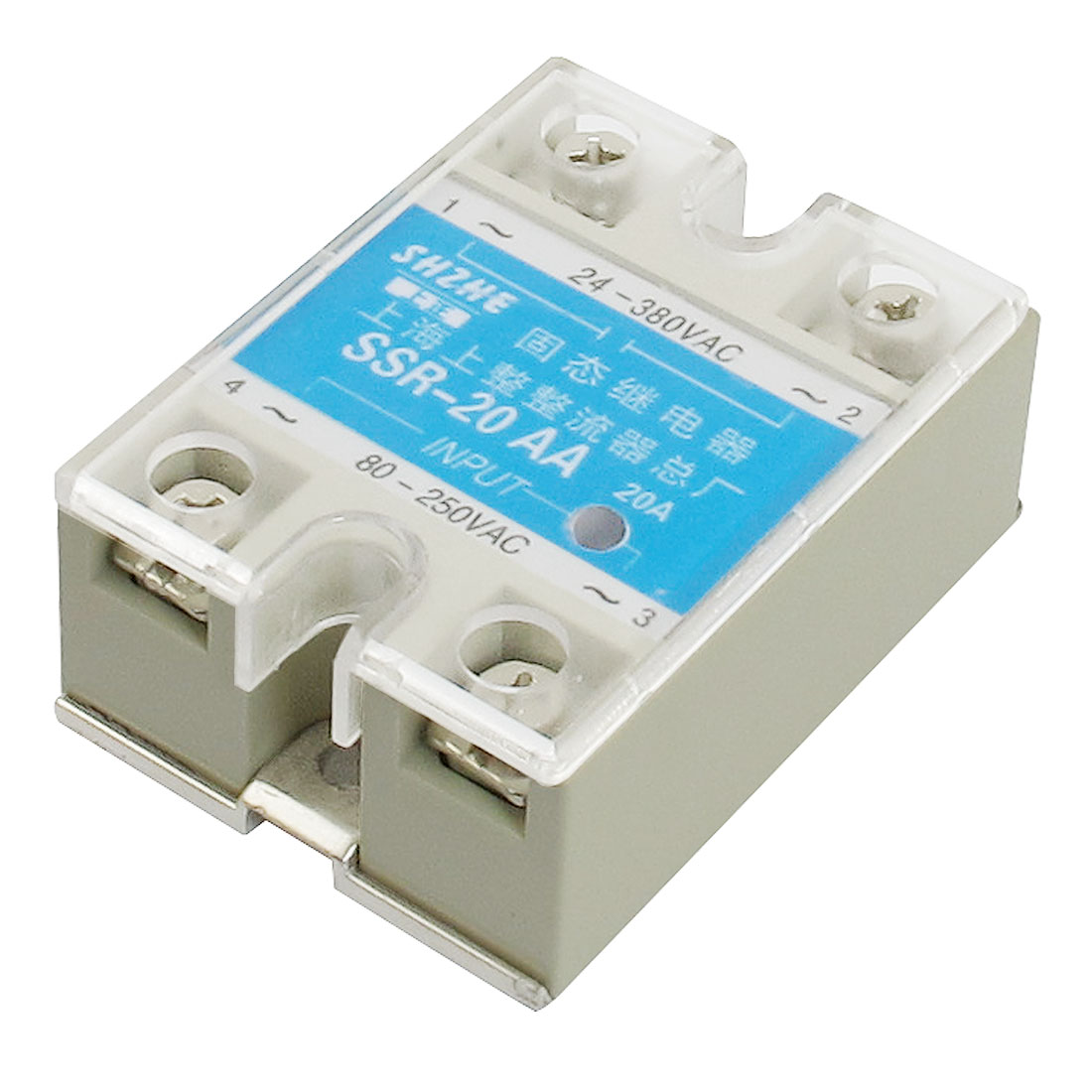 SSR-20AA AC to AC Covered Solid State Module Relay AC 80-250V AC 24-380V