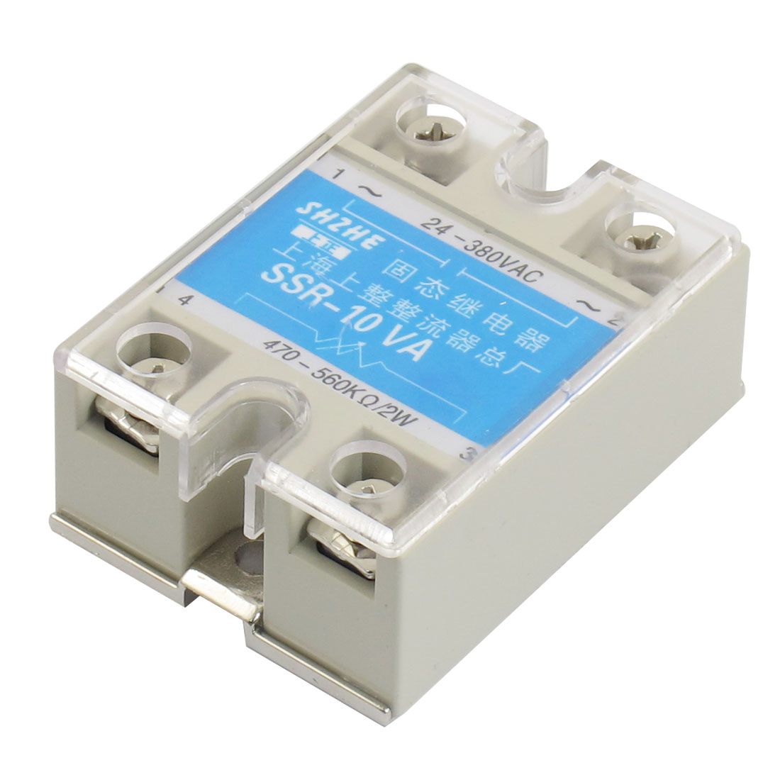 SSR-10VA 10A AC 24-380V Output Covered Adjustable Solid State Module Relay