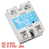 SSR-25DD DC to DC Covered Solid State Module Relay DC 3-32V DC 5-110V