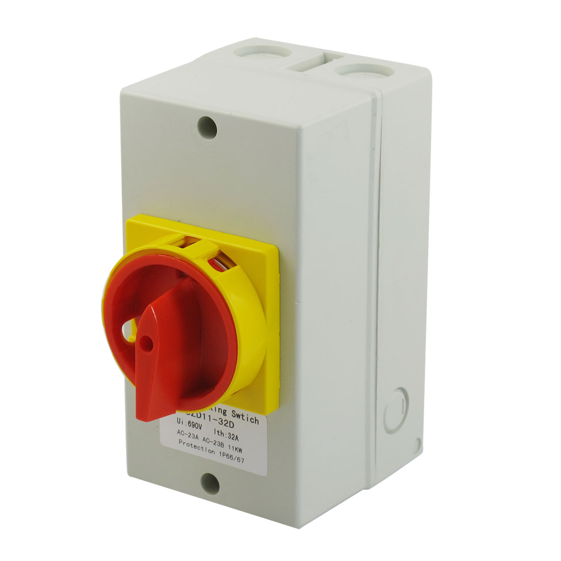 Latching AC 690V 32A 11KW 2 Position Cam Combination Changeover Switch w Mount Shell
