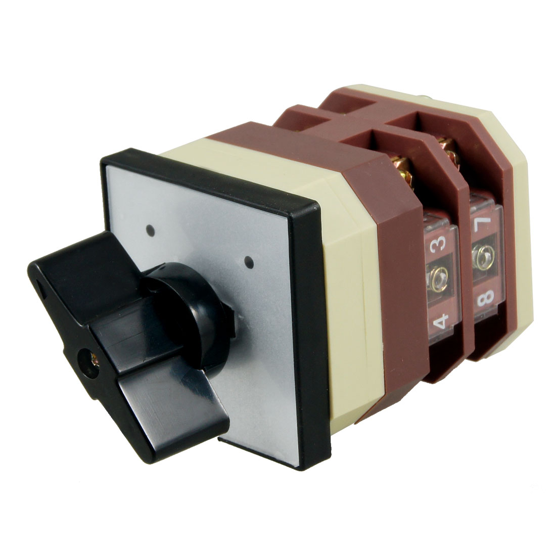 Latching Locking AC 380V 16AMP 2 Position Cam Combination Changeover Switch