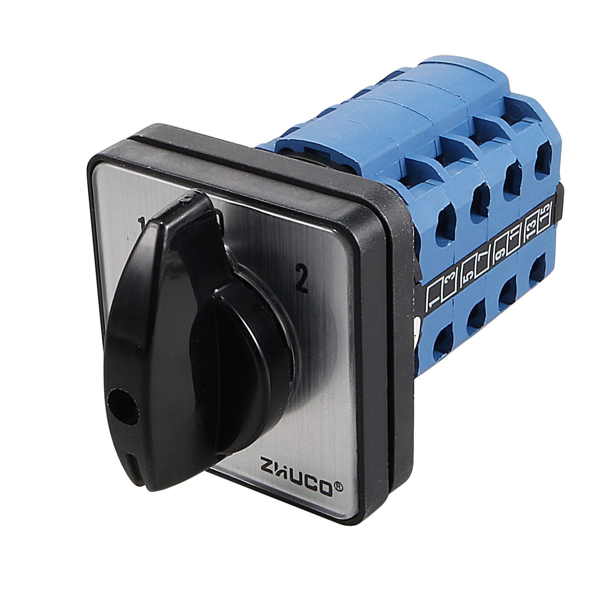 Ith 20A 1-0-2 On-Off-On Position 16 Terminals Rotary Cam Combination Switch