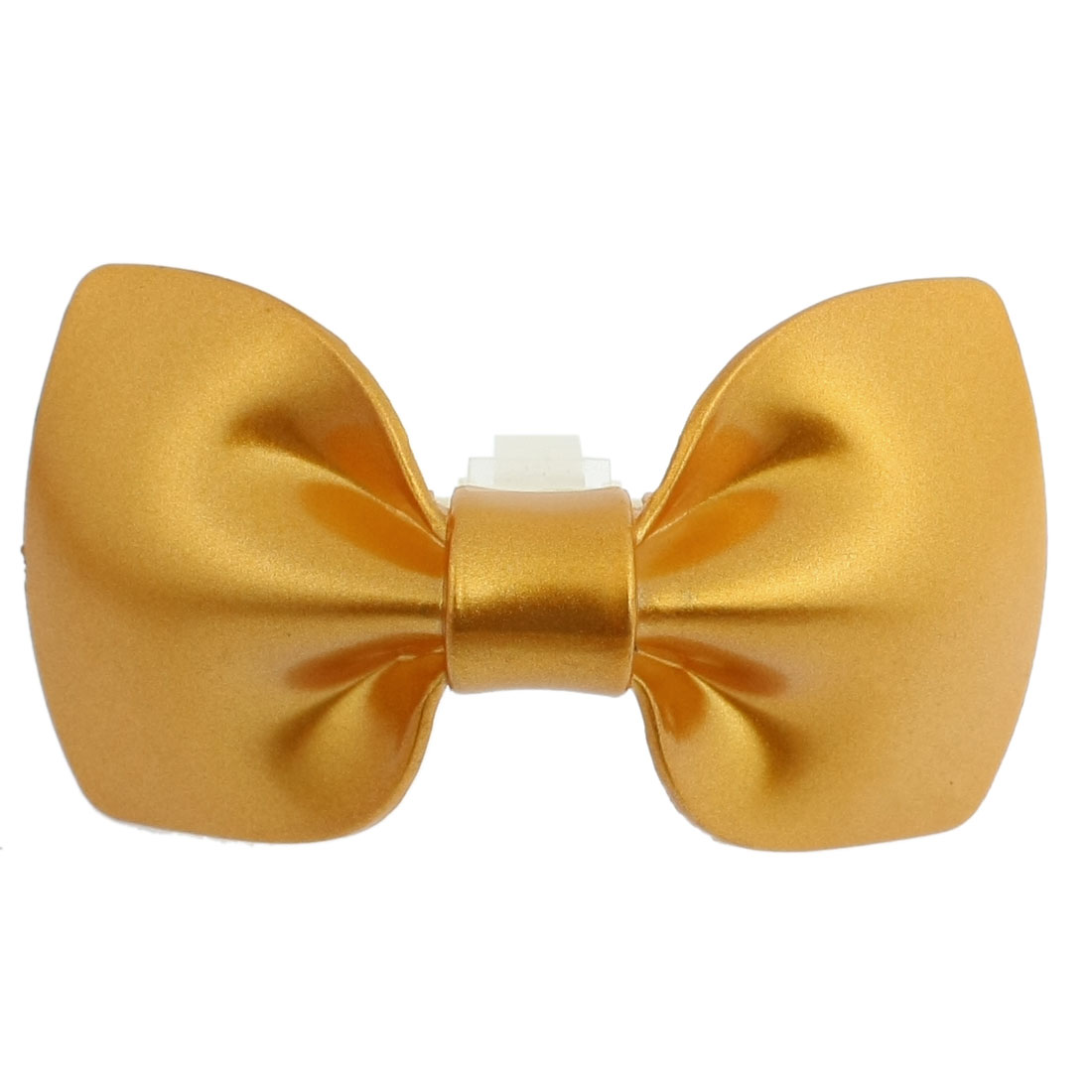 Bowtie Shaped Air Fragrance Freshener Gold Tone Car Auto Vent Decor